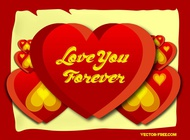 Link toLove forever hearts vector free