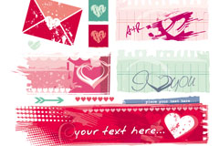 Link toLove graffiti banner design vector
