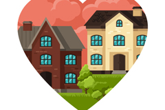 Link toLove house vector