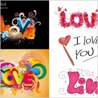 Link toLove love colorful pattern vector