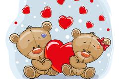 Link toLove teddy bear couple vector