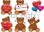 Link toLove teddy bear vector