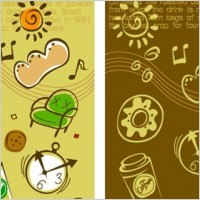 Link toLovely background series vector material 4