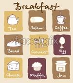 Link toLovely breakfast vector