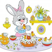 Link toLovely cartoon bunny design vector set 01 free