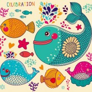 Link toLovely cartoon fish design vector graphics free
