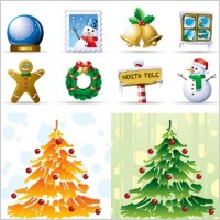 Link toLovely christmas element icons vector