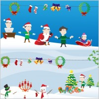 Link toLovely christmas element vector and scenes