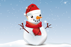 Link toLovely christmas snowman poster vector