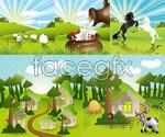 Link toLovely countryside farm vector