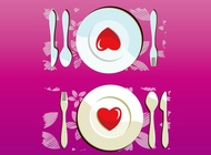 Lovely dinner vector free