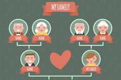 Link toLovely family tree design vector
