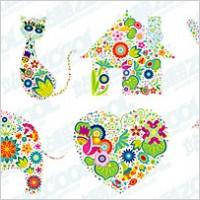 Link toLovely flower pattern vector