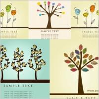 Link toLovely flower tree vector
