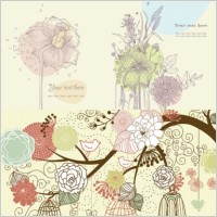 Link toLovely flowers plants vector