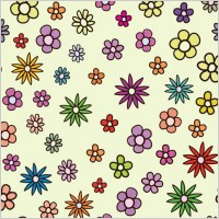 Link toLovely flowers vector background 1