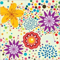 Link toLovely flowers vector background 5