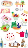 Lovely food vector