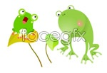 Link toLovely frog vector