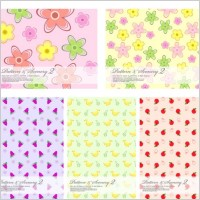 Link toLovely fruit and flowers vector background