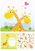 Link toLovely hand-painted animals vector