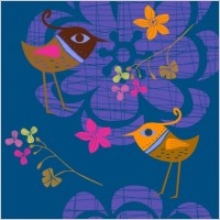 Link toLovely handpainted flowers birds vector 2