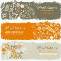 Link toLovely handpainted style pattern vector