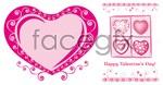 Link toLovely heart-shaped vector