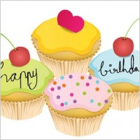 Link toLovely little birthday cake vector