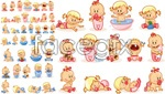 Link toLovely male and female baby vector