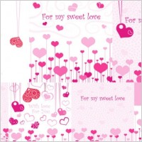 Link toLovely romantic valentine day greeting card vector