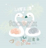 Link toLovely swan vector
