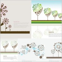 Link toLovely trees vector flowers