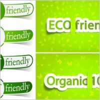 Link toLowcarbon green theme label banner design vector 2