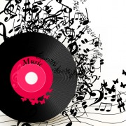 Link toLp with music vector background 02 free