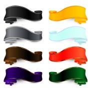 Link toLuxury colored ribbons vector 01 free