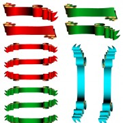 Link toLuxury colored ribbons vector 04 free