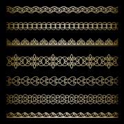 Link toLuxury golden lace borders vector set 01 free