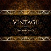 Link toLuxury golden vintage vector background set 02