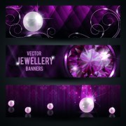 Link toLuxury jewellery banners design vector 01