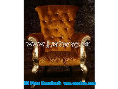 Luxury silk sofa 3d model (including materials)