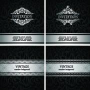 Link toLuxury vintage invitation cards background vector