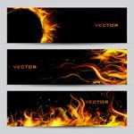 Link toM-flame banner vector