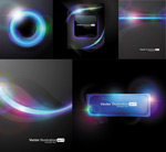 M-halo light background vector