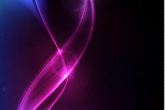 M-neon line vector