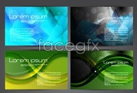 Link toM-pattern business card template vector