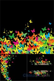 Link toMagic butterfly decorative background image design vector