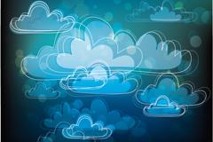 Link toMagic cloud flower background vector
