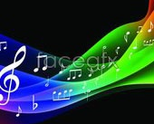 Link toMagic music background vector