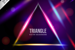 Link toMagic triangle vector background